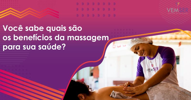Você sabe quais são os benefícios da massagem para sua saúde?🤔